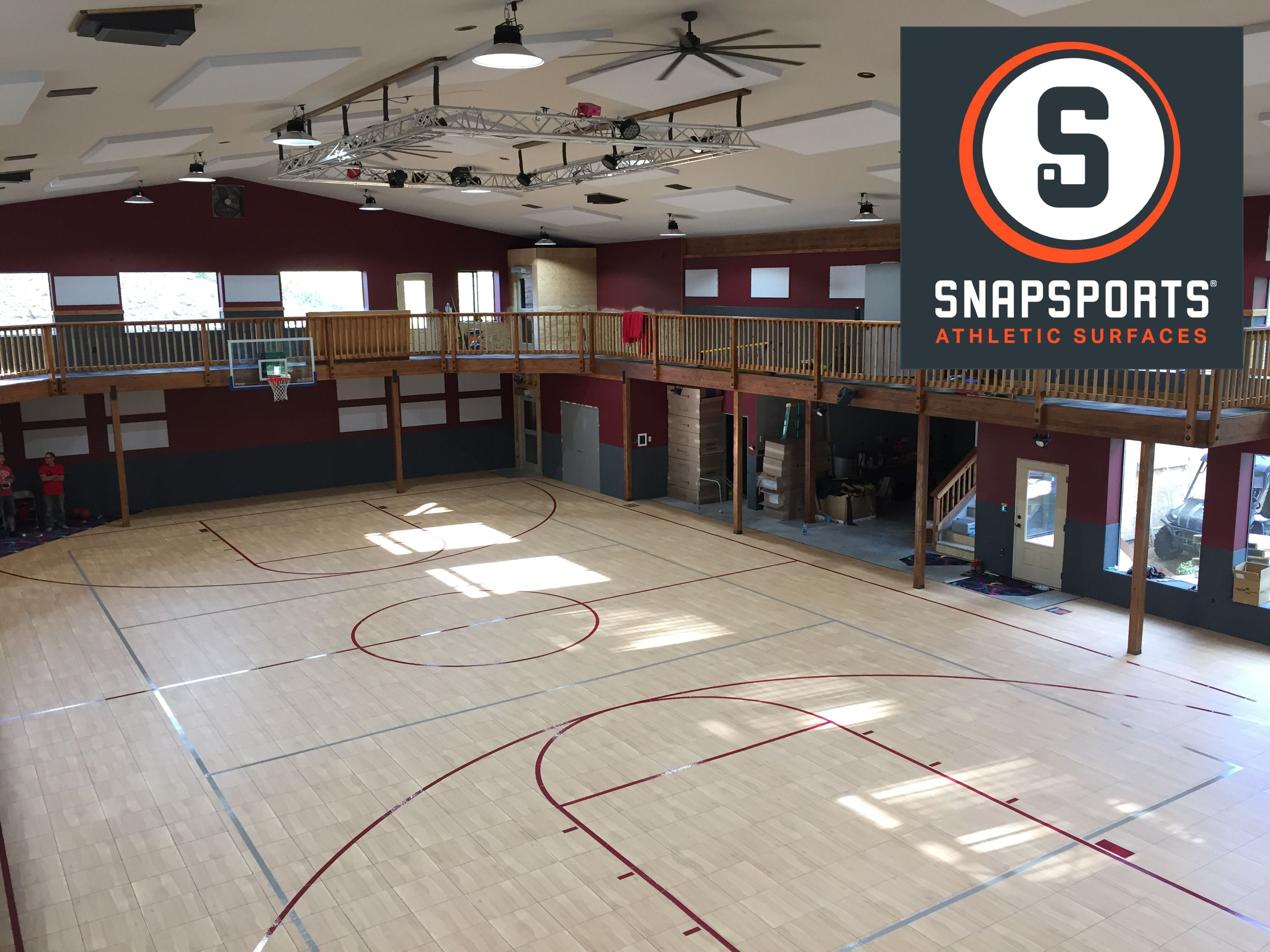 Luxury Residential Home Gym And Basketball Court By Snapsports Montana