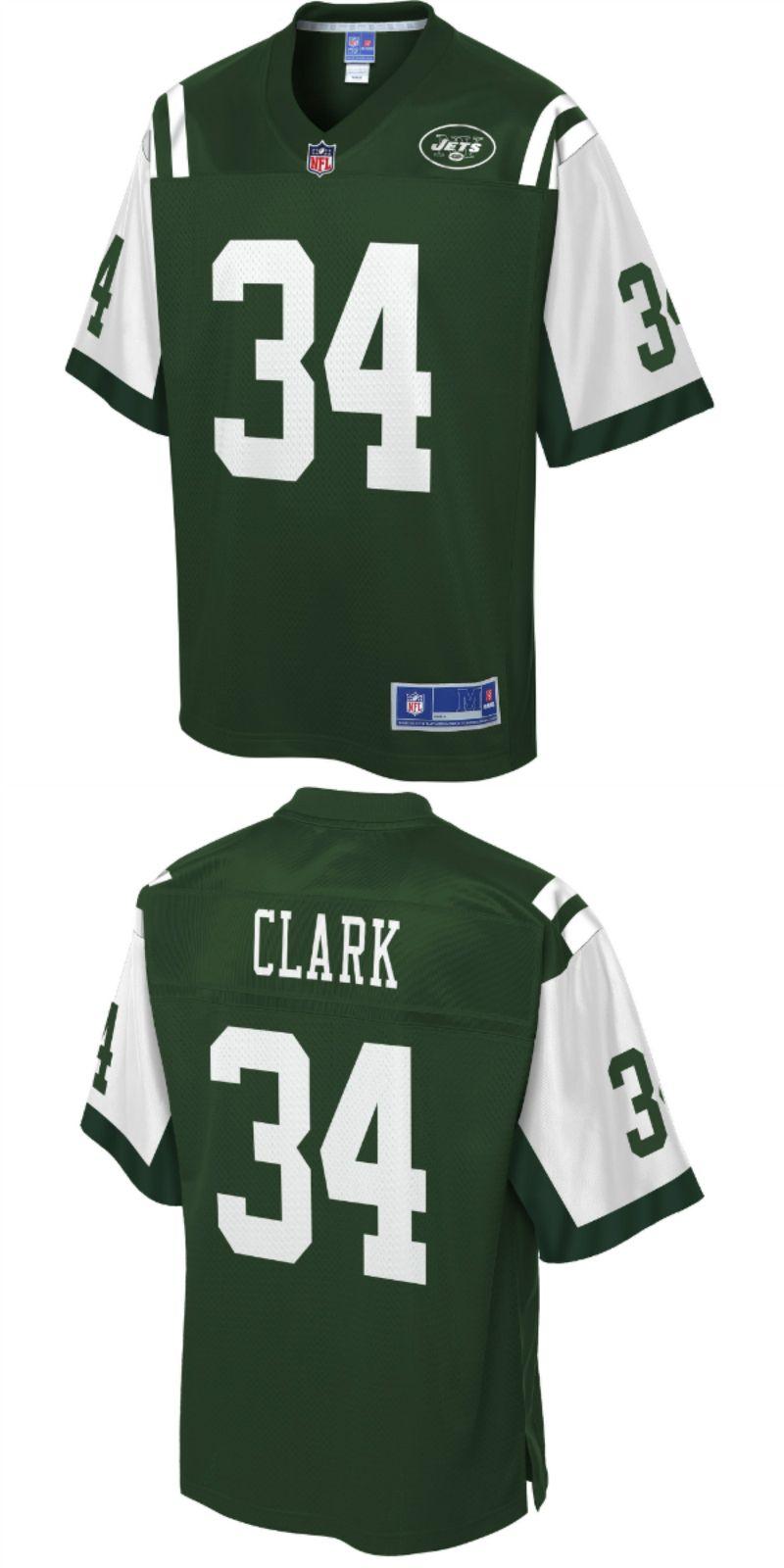 huge selection of f40eb 4a6b7 Jeremy Clark New York Jets NFL Pro Line Team Color Player ...