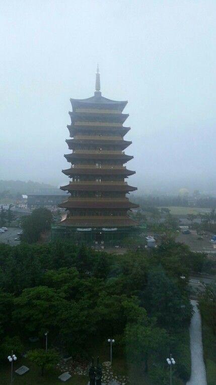 경주 황룡원 (동국제강) 황룡사 9층석탑 동일크기 건축물 Gyeonju Hwangyongwon, Gyeongju, Korea