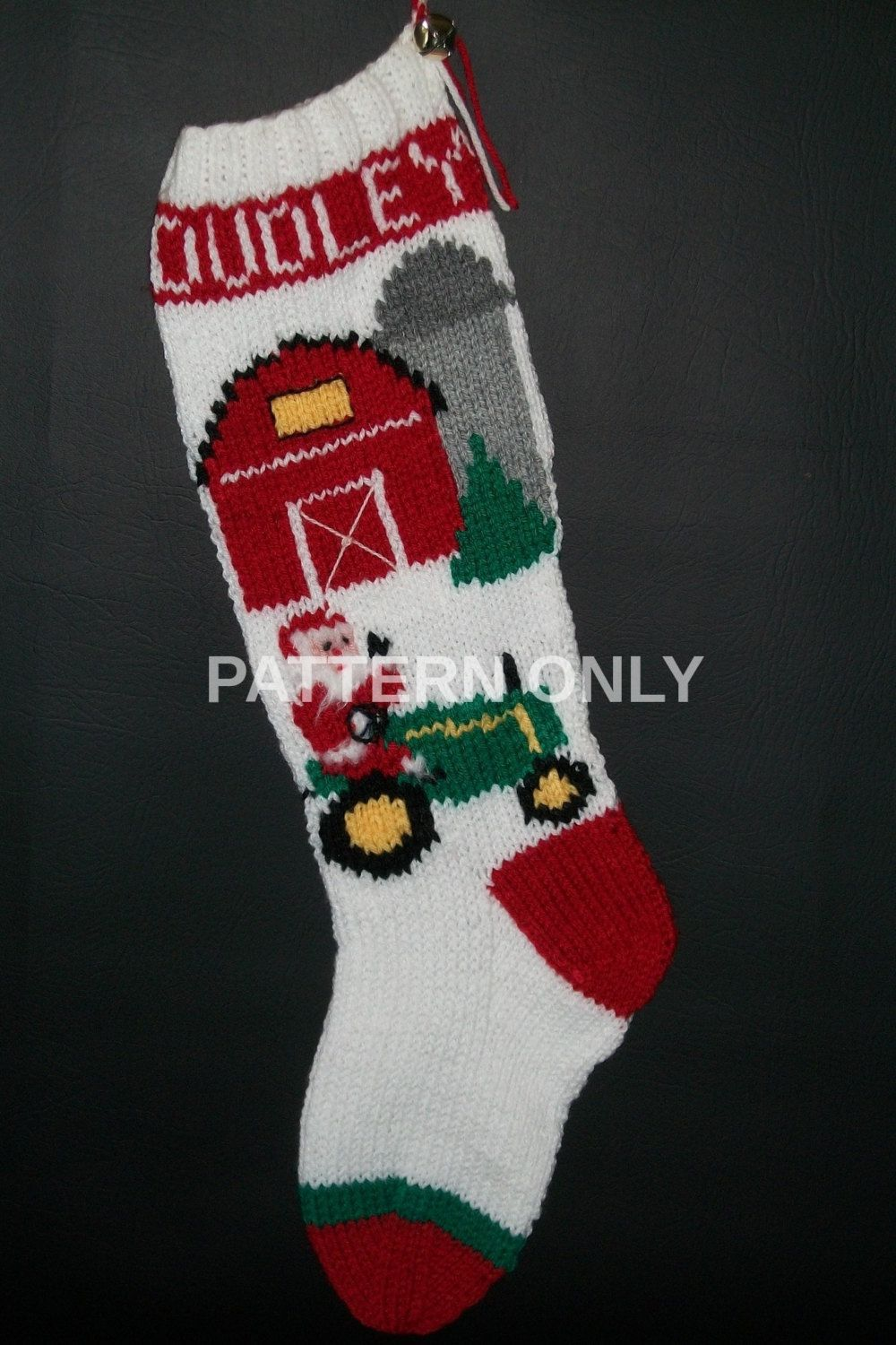 Pdf pattern only hand knitted santa on a tractor christmas pdf pattern only hand knitted santa on a tractor christmas stocking by knottyneedleworker on etsy bankloansurffo Choice Image