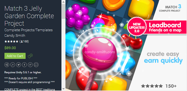 Download Reskin Source Code Game Unity Jelly Garden Match 3 Complete