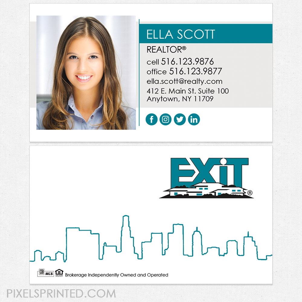 EXIT business cards, business cards, EXIT cards, realtor business ...