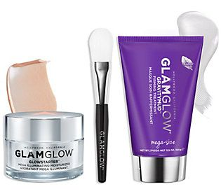 Photo of GLAMGLOW Glow Game Strong – Firming Mask + Mois ture Set