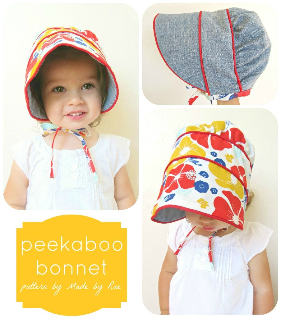 peekaboo bonnet pattern (made by rae) | Dresses for Emma & Molly ...