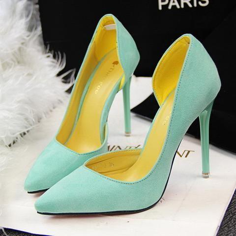 Stylish Design Point Toe Trendy Heels
