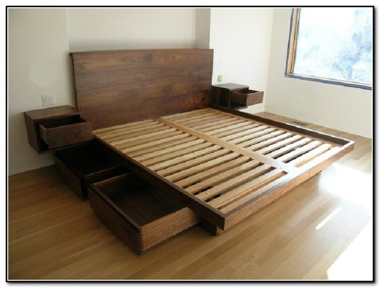 Enhance Your Dream With Our 10 Amazing Floating Bed Frame Design Ideas Wood Bed Design Bed Frame Design Bed Frame With Storage