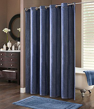 cremieux classic denim shower curtain #dillards | my dream home