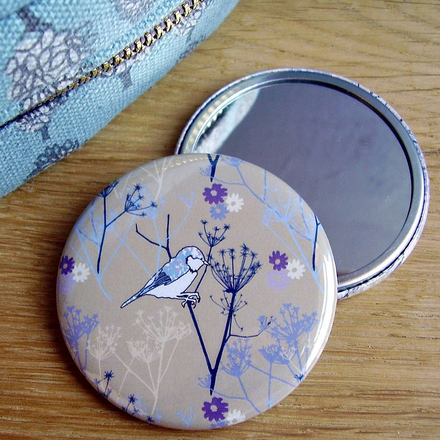 cow parsley pocket mirror by littlebirdydesigns | notonthehighstreet.com