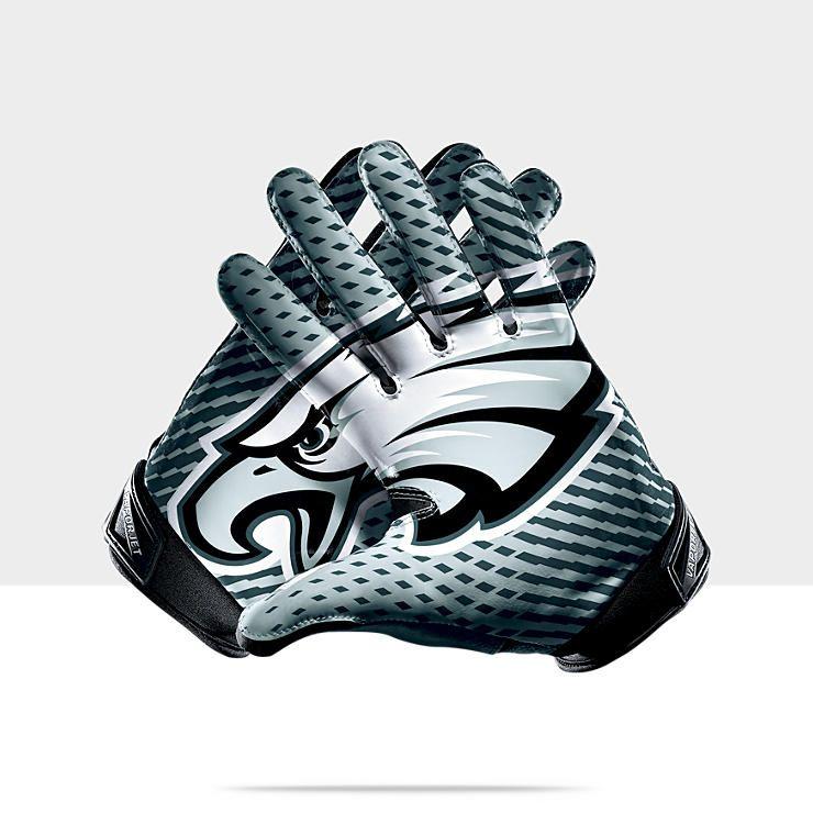 0b7301add4c Nike Vapor Jet 2.0 (NFL Eagles) Men's Football Gloves | For The ...