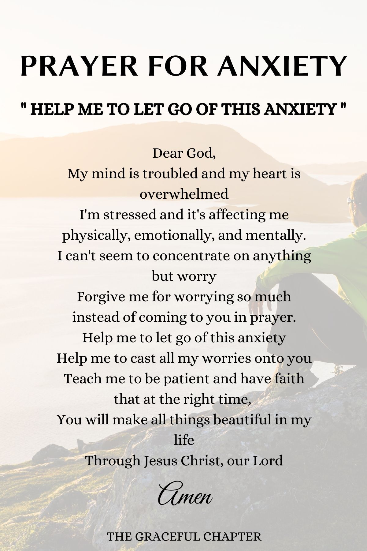 8 Prayers For Anxiety To Calm Your Soul - The Grac