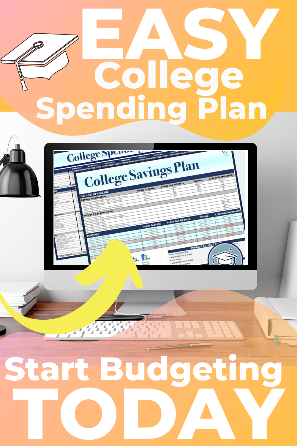 College Savings Plan College Cost Calculator College Spending Plan Wendy Valencia In 2020 College Costs Saving For College College Savings Plans
