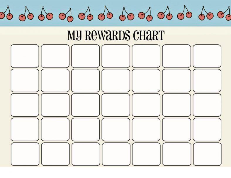 printable reward chart new Useful printables Pinterest