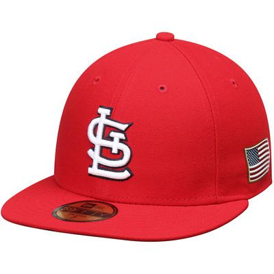 the best attitude 01fe1 1c639 Men s St. Louis Cardinals New Era Red Authentic Collection On-Field US Flag  59FIFTY Fitted Hat