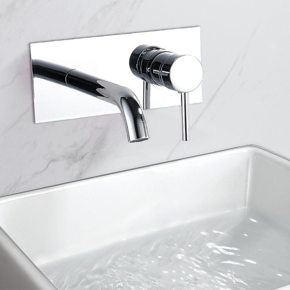 Bathroom Basin Taps Wall Mounted Mono Chrome Monobloc Cloakroom ...