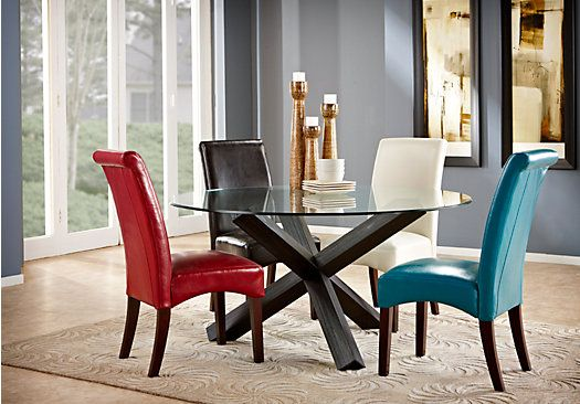 Shop For A City Villa Brown 5 Pc Dining Room At Rooms To Gofind Delectable Rooms To Go Dining Room Set Design Ideas