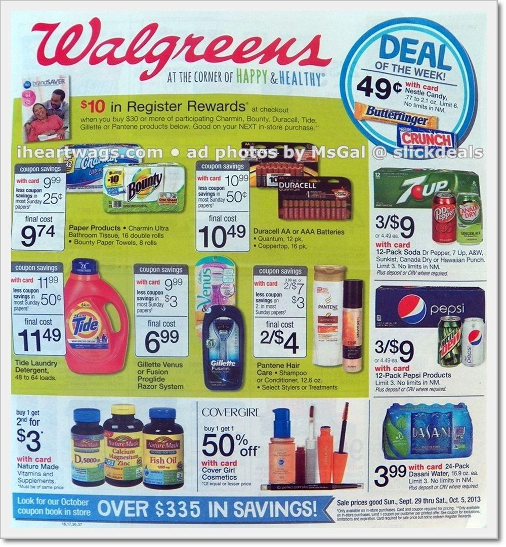 09/29 10/05 Walgreens couponing, Walgreens, Coupons
