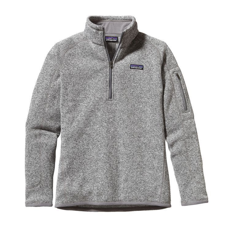 Patagonia Women's Better Sweater Quarter Zip Pullover- Birch White ...