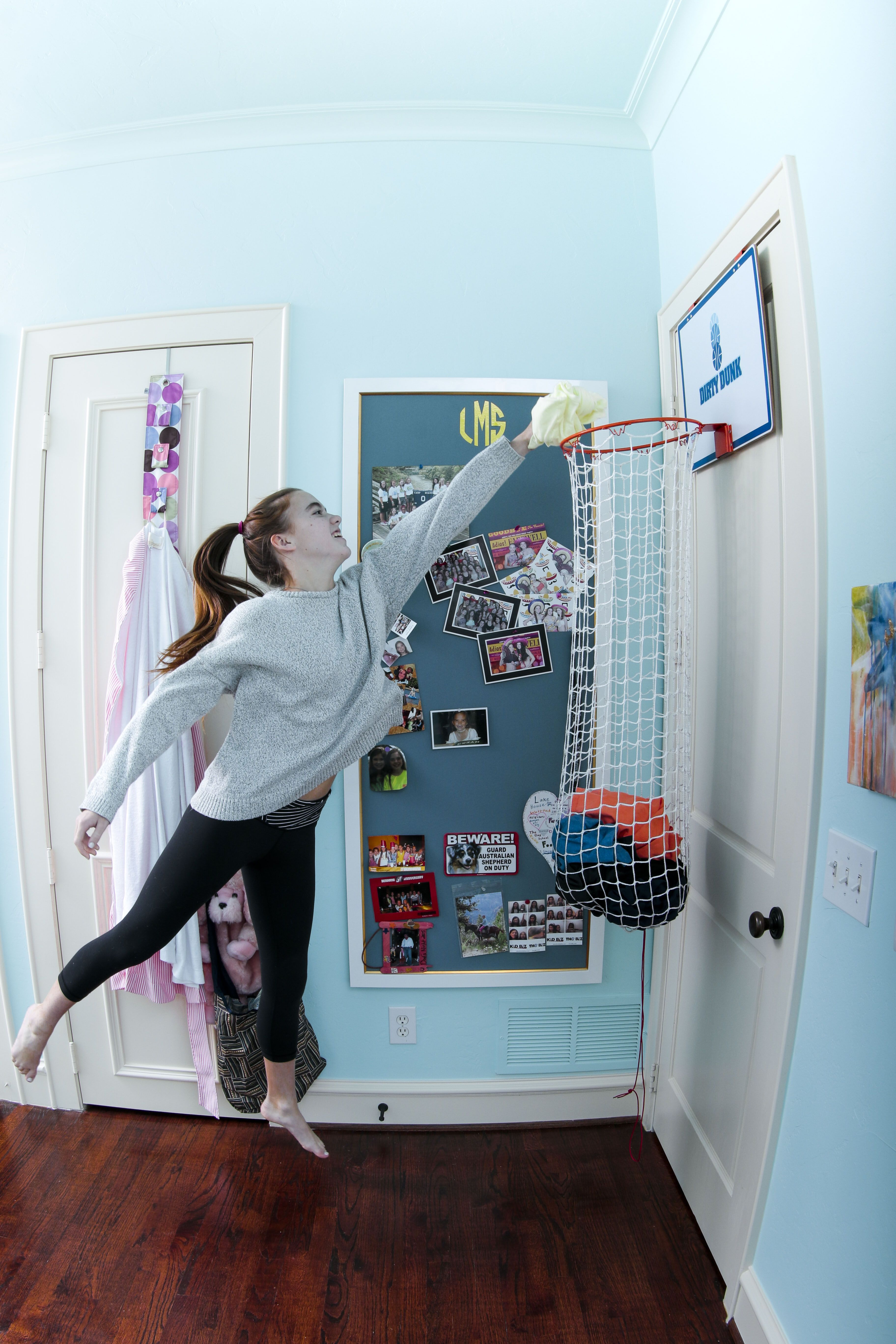 Such a fun gift for sporty girls a classic basketball for Fun girl bedroom ideas