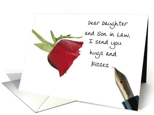 Valentines message to Daughter Son in law card – Message in Valentines Card