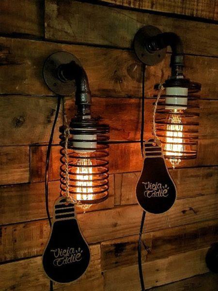Lamparas Colgantes Con Bombilla Vintage Filamentos Apliques De Pared Lamparas Escritorio Velador San Carlos De Bariloch Edison Light Bulbs Lamp Light Bulb