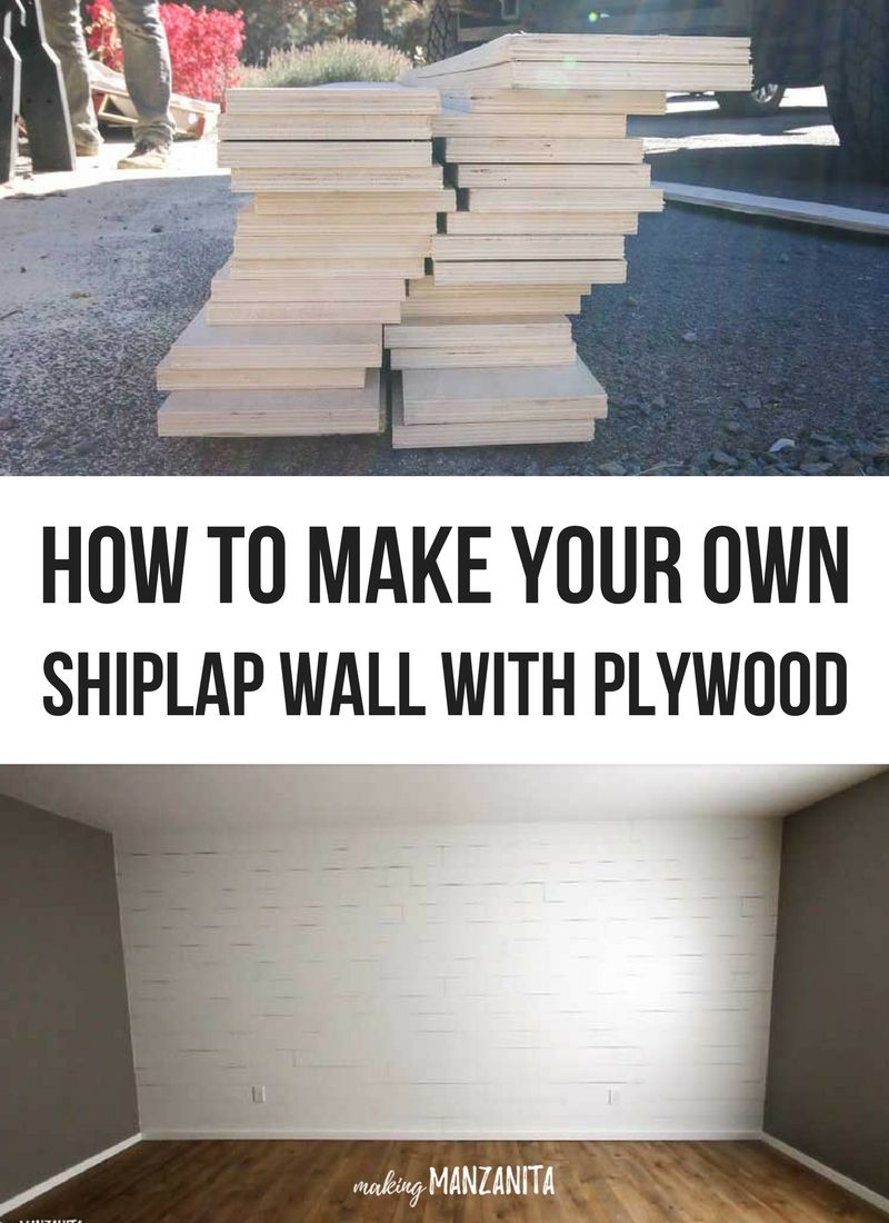 How To Make A Plywood Shiplap Wall Ship Lap Walls Shiplap Free Wood Pallets