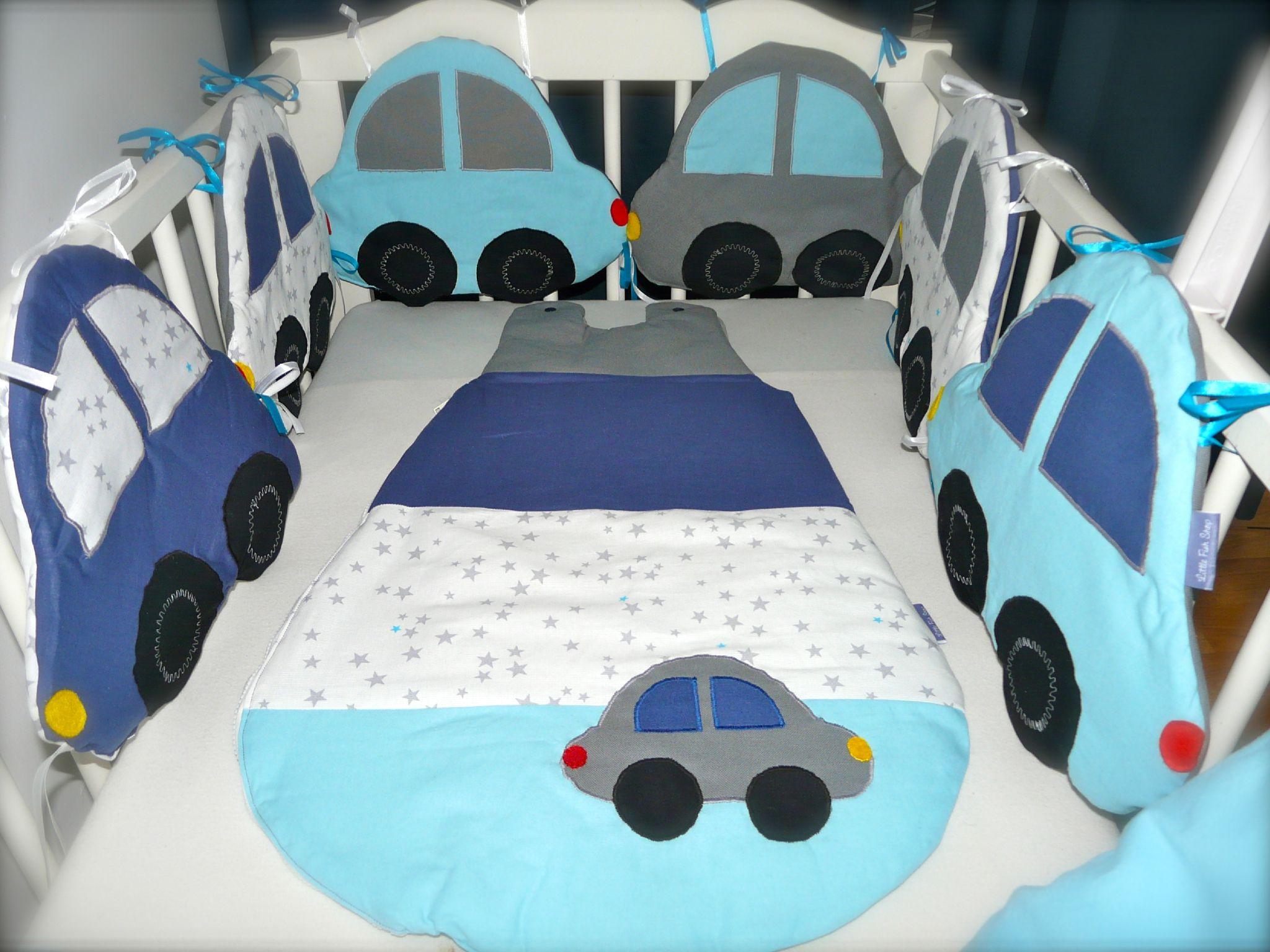 tour de lit et gigoteuse petites voitures little fish shop kid pinterest poisson et shops. Black Bedroom Furniture Sets. Home Design Ideas