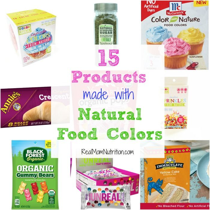 15 Products Without Food Dyes | Natural food coloring, Natural and ...