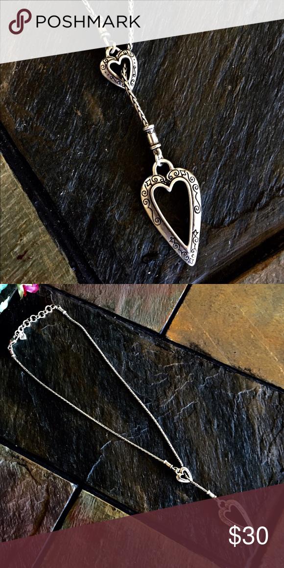 """Brighton 11"""" silver necklace Beautiful piece  Brighton Jewelry Necklaces"""