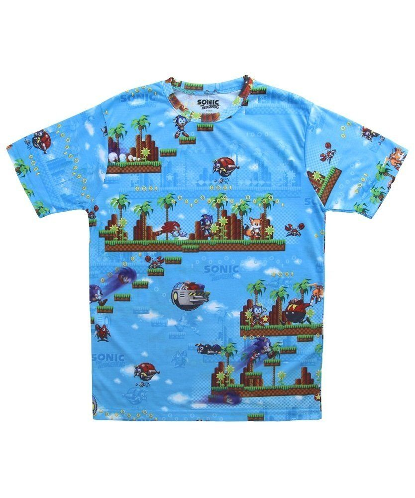 Sonic The Hedgehog All Over Print T Shirt Sonic Apparel For Kids