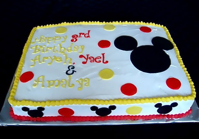 Pin By Ashley Byars On Mickey Party Mickey Mouse Birthday Cake