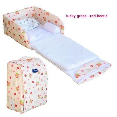 portable baby bed with a small pillow with bamboo fiber 012 months