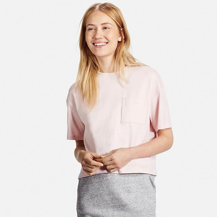 29833c5a Women Cropped Crew Neck T-Shirt in 2019 | a better wardrobe | Polo ...