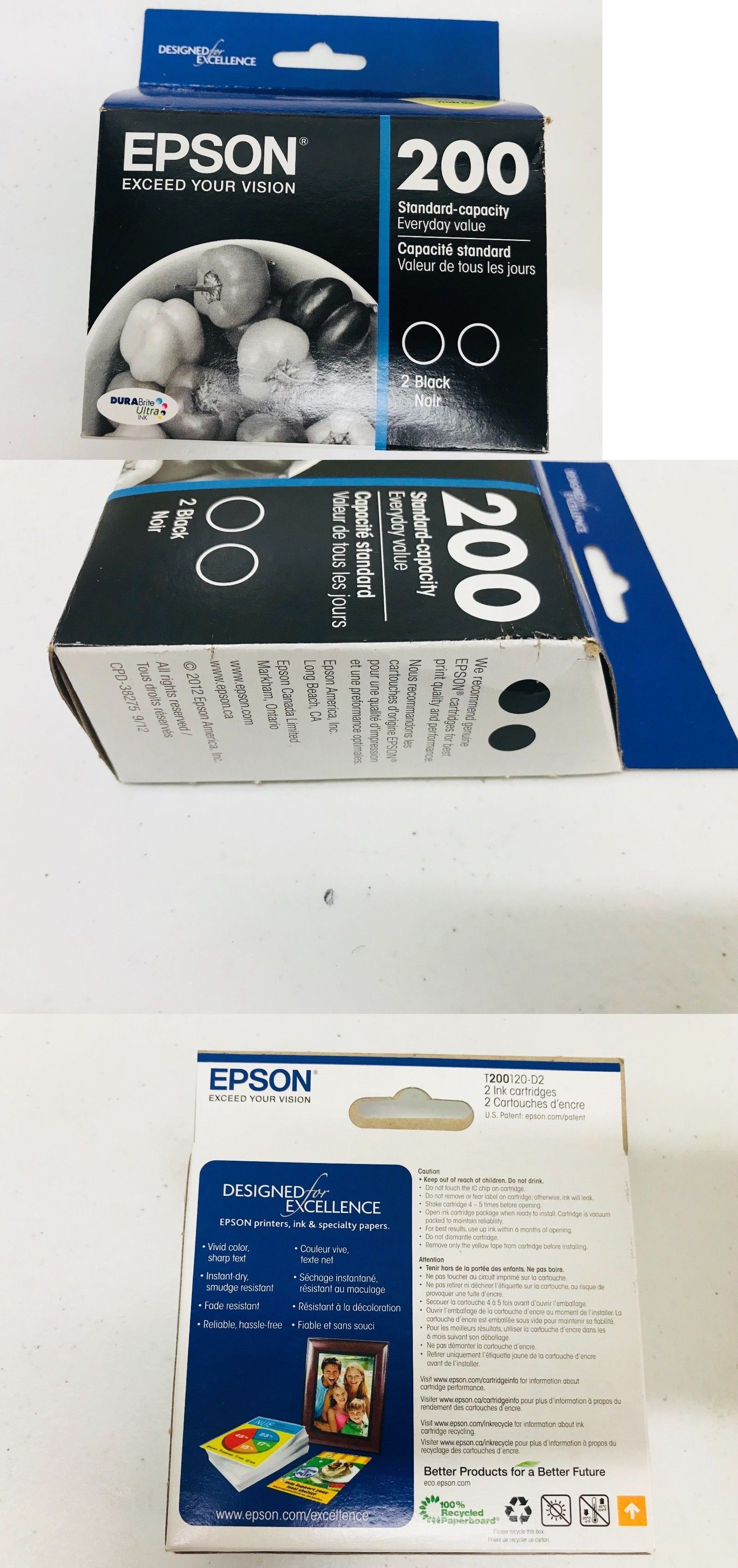 Other Ink Toner and Paper 175705: Brand New! 2 Pack Sealed
