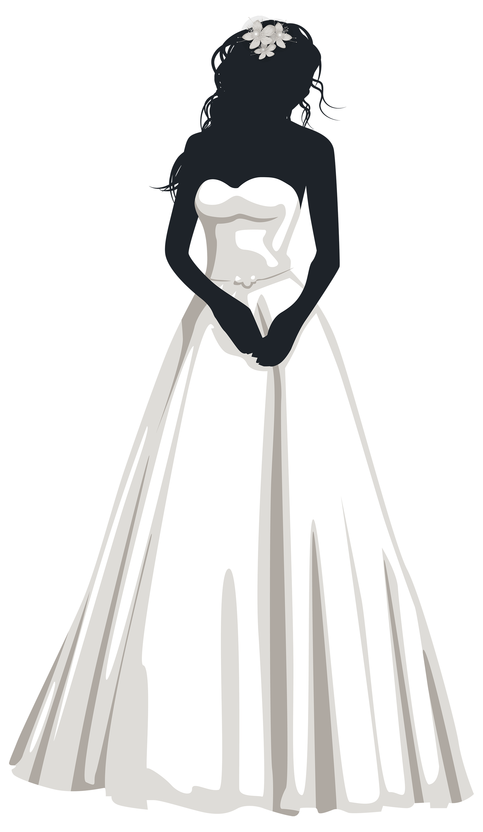 Bride Silhouette Png Clip Art Bride Clipart Bride Silhouette Wedding Dress Sketches