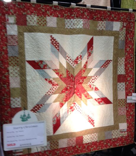 Starry Christmas Quilt - photo taken at the Festival of Trees 2013 in Sandy, UT