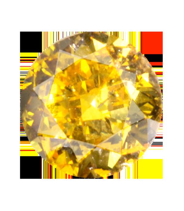 0 26 Carat Fancy Vivid Yellow Brilliant Round Diamond Canary Diamond Colorless Diamond Yellow Diamond