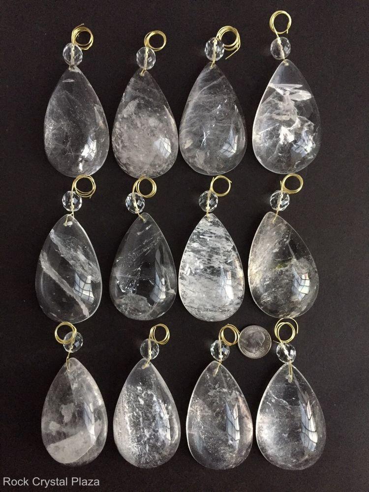 Rock Crystal Quartz Chandelier Pendants Prisms H Pear W Crystal Bead - Quartz chandelier crystals