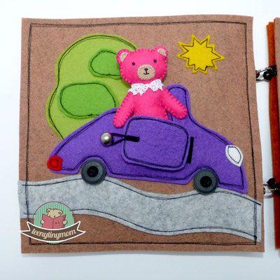 Pink Miss Teddy - ein Spielhaus für unterwegs