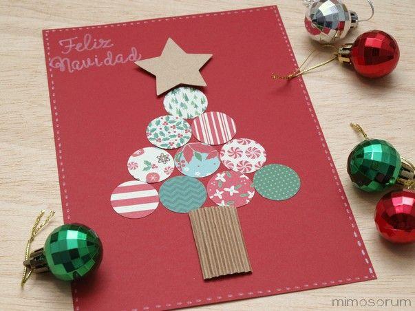 Tarjeta de navidad con troqueles proyectos blog - Como hacer tarjetas de navidad faciles ...