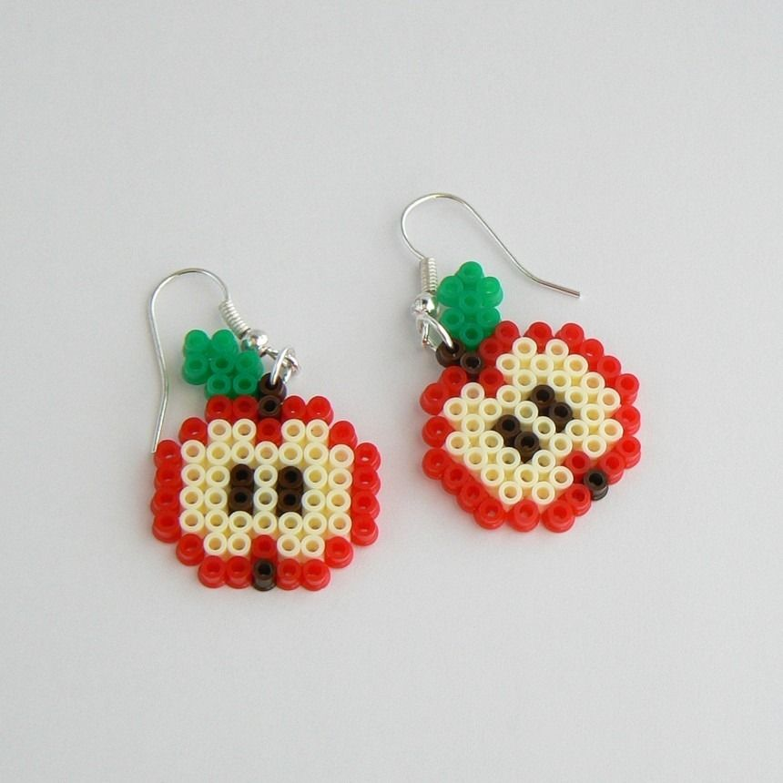 boucles d 39 oreilles en perles hama perler beads le blog de miss kawaii jayla pinterest. Black Bedroom Furniture Sets. Home Design Ideas