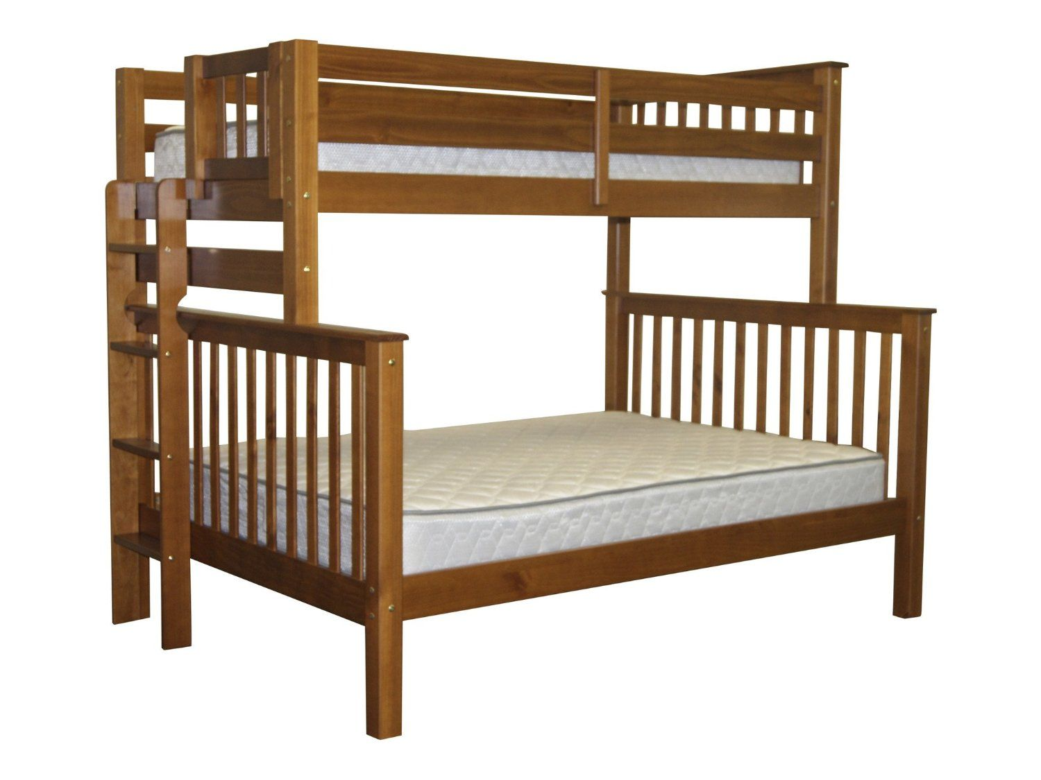 Amazon bedz king mission style bunk bed with end ladder twin