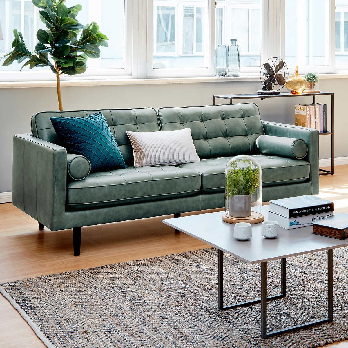 Green 1 In 2021 Leather Sofa Living Room Leather Sofa Living Room Leather [ 1200 x 1200 Pixel ]