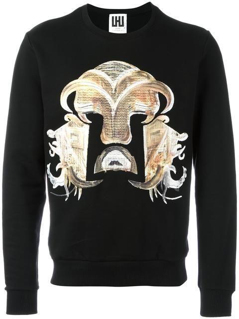 0a1fa314 Les Hommes Urban 'Warrior' embroidered sweatshirt. Les Hommes Urban  'Warrior' embroidered sweatshirt Mens Designer ...