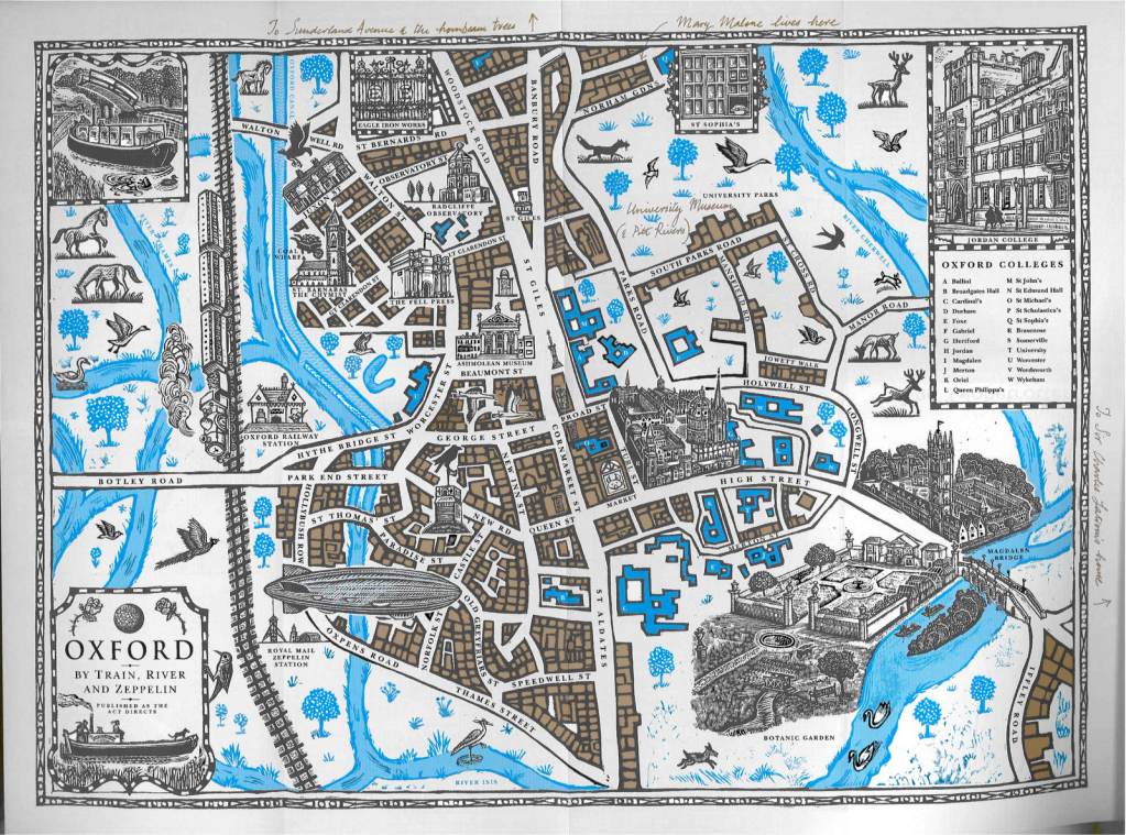 A map of lyras oxford from philip pullmans his dark materials his dark materials oxford map the golden compass the subtle knife the amber spyglass gumiabroncs Images