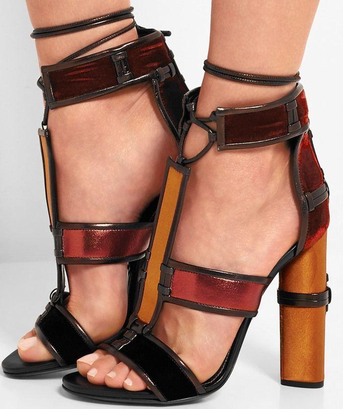 Women Block Heel Gladiator Sandal Ankle Strap Chunky Heel Pumps