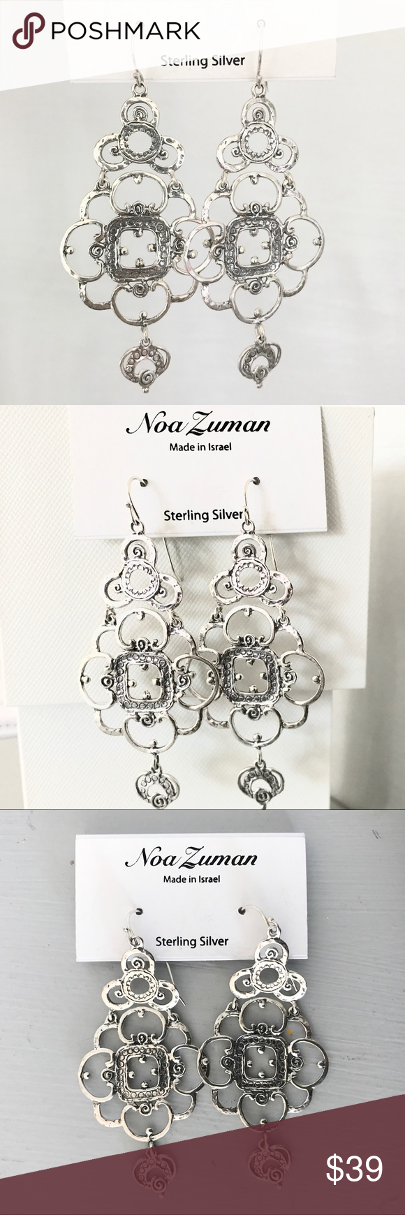 f2f8c9b2c Noa Zuman Sterling Silver dangle earrings Beautiful Sterling silver earrings  by Noa Zuman in a gorgeous design made from Sterling silver.