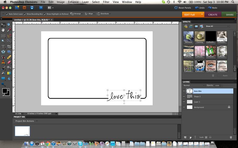 Creating an Border + Word Overlay {Photoshop Elements