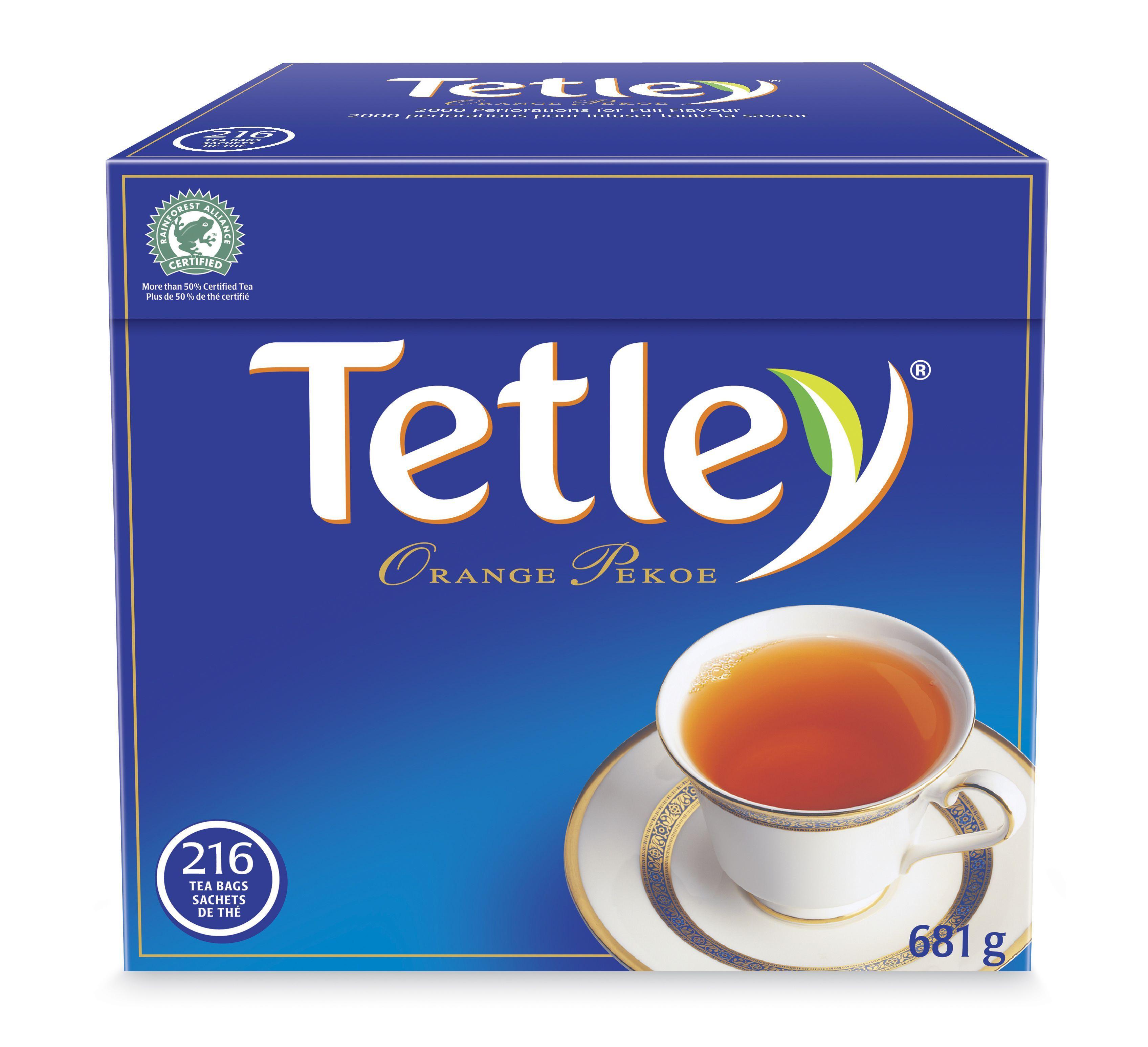 Tetley Tea Tetley Tea Orange Pekoe Tea Tea Box