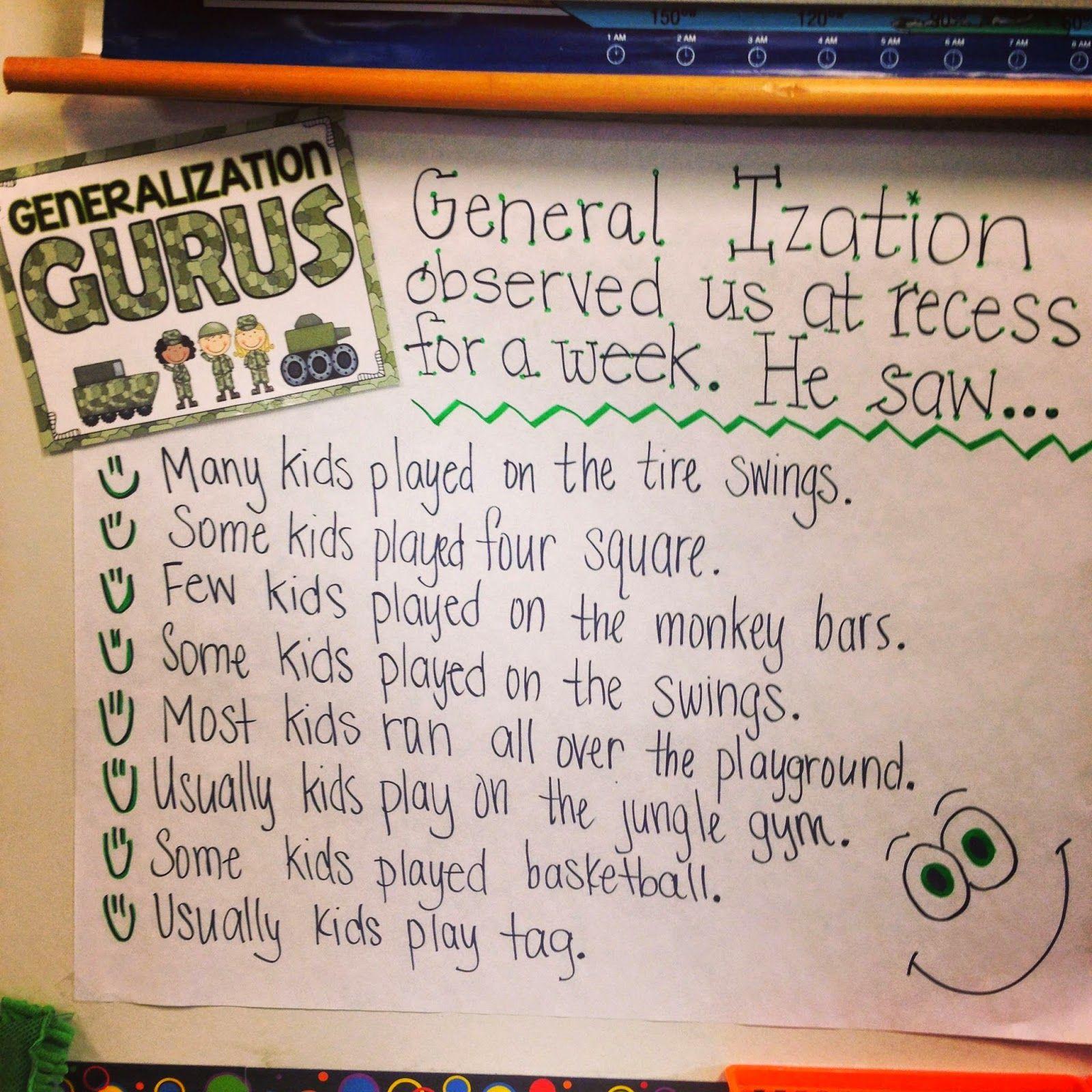 Teaching Generalizations