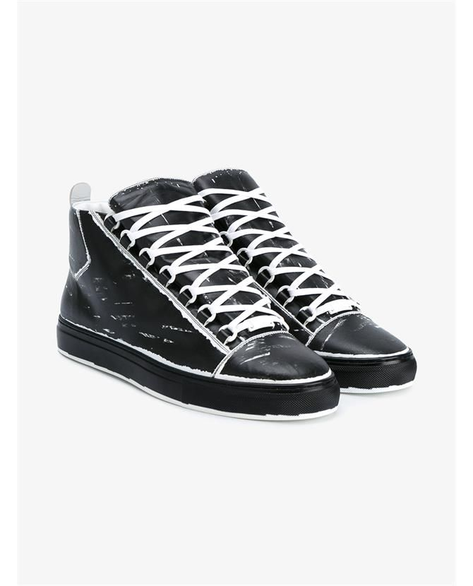 46e72a0e1cf Painted Character   Balenciaga Arena Printed High-Top Leather  Sneakers   SHOEOGRAPHY